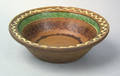 Pennsylvania Moravian redware bowl 19th c