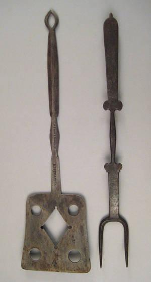 Pennsylvania wrought iron spatula 19th c