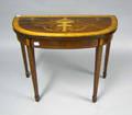 George III style inlaid card table