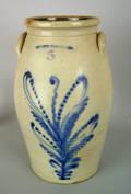 Five gallon stoneware churn 19th c
