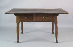Pennsylvania Queen Anne walnut tavern table ca 1760