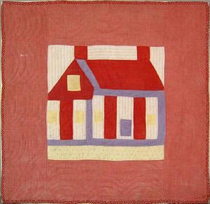 Pieced crib quilt ca 1900