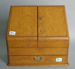 English oak letter case