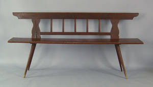 Continental painted bench 19th c