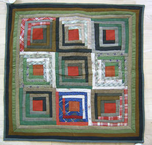 Pennsylvania pieced crib quilt ca 1900
