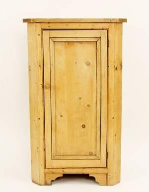American 19th C Pine Corner Cabinet