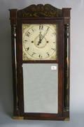 E Thayer mahogany shelf clock