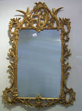 Carved and gilded mirror
