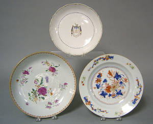Two Chinese export famille rose shallow bowls late 18th c