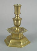 Swedish brass candlestick 17th c