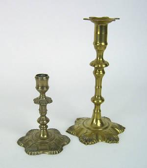 English Paktong candlestick ca 1765