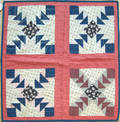 Three calico quilts late 19th c