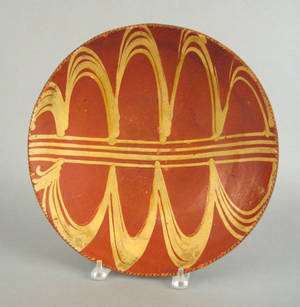 Southeastern Pennsylvania redware charger 19th c