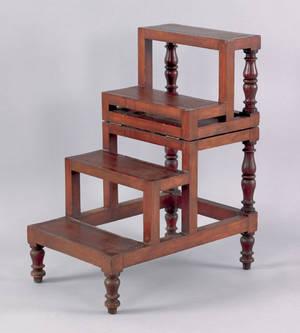 Regency mahogany folding library steps early 19th c