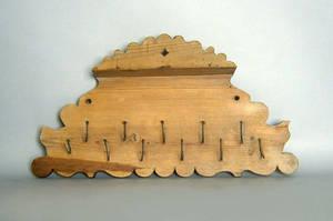Pine utensil rack