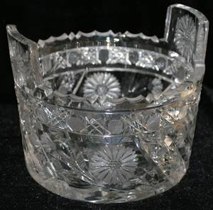 121122 CUT CRYSTAL ICE BUCKET H6