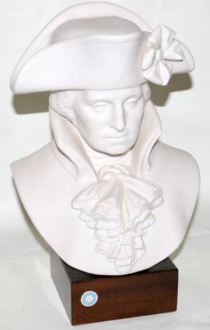 101171 CYBIS BISQUE BUST OF GEORGE WASHINGTON H11