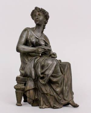 Victorian Spelter Sculpture of a Woman