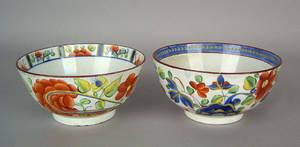 Two Gaudy Dutch waste bowls