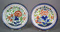 Two Gaudy Dutch plates 19th c