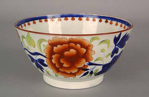 Gaudy Dutch waste bowl 19th c
