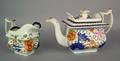 Gaudy Dutch double rose teapot 19th c