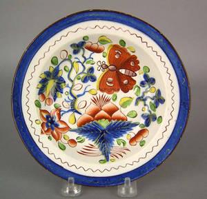 Gaudy Dutch soup bowl 19th c