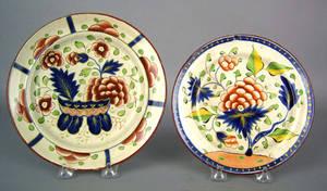 Gaudy Dutch plate 19th c