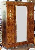 102071 FRENCH EMPIRE STYLE KINGWOOD ARMOIRE C1880