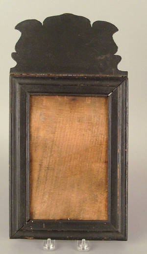 New England Queen Anne painted pine courting mirror mid 18th c