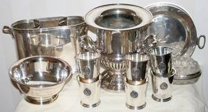 121213 SILVERPLATE CHAMPAGNE BUCKET WINE HOLDER