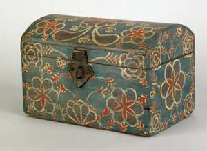 Lancaster County Pennsylvania painted poplar dresser box early 19th c