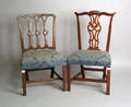 Two Chippendale dining chairs
