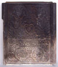 Pennsylvania cast iron Gods Well stove plate dated 1760