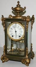 120183 SETH THOMAS METAL  GLASS CLOCK H158 L8