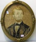 Silkwork of Abe Lincoln