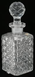 110290 W GERMANY CRYSTAL DECANTER H11 DIA4