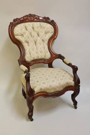 19th C Mahogany Framed Open Armchair