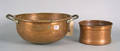 Two copper bowls