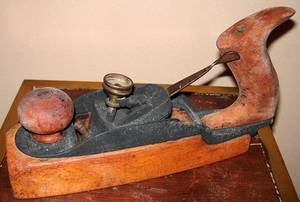 113195 ANTIQUE PLANER LATE 19TH C H5 W25 L95