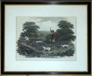 112299 HENRY BERNARD CHALON ENGRAVING FOX HUNT