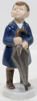 111425 ROYAL COPENHAGEN PORCELAIN BOY WUMBRELLA