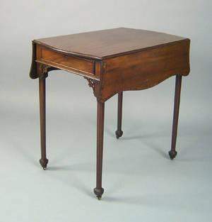 George III mahogany pembroke table ca 1785