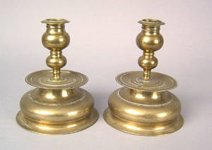 Pair of German brass candlesticks ca 1620