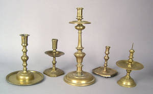 Spanish brass candlestick ca 1680
