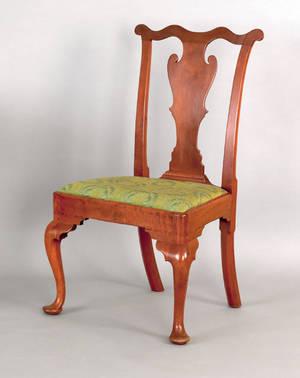 Delaware Valley Queen Anne walnut dining chair ca 1760