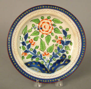 Gaudy Dutch plate 19th c