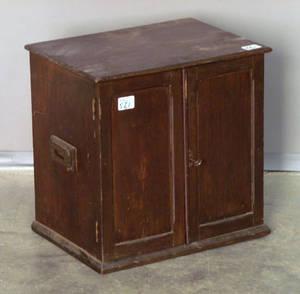 Mahogany specimen cabinet