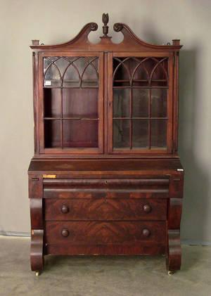 Empire mahogany secretary desk
