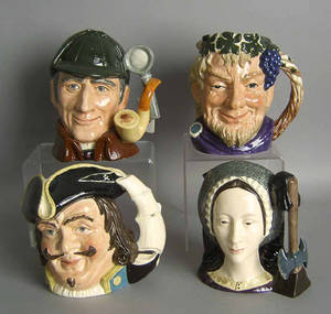 Four Royal Doulton toby mugs to include The Sleuth